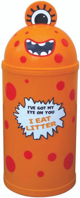 Theme Bins Small Monster Bin in Orange for Indoor & Outdoor Use - 42 Litres