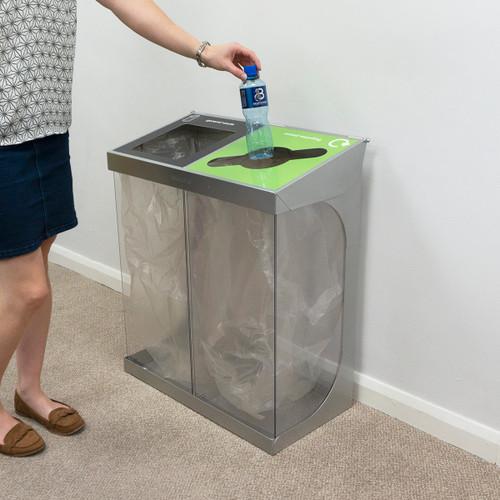 Wybone C-Bin Double Recycling Unit Transparent Bodies - 120L