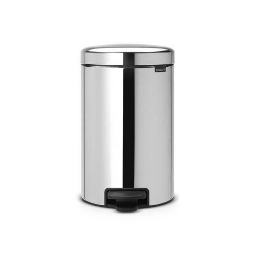 Brabantia Pedal Bin newIcon 12 litre Plastic Bucket - Brilliant Steel