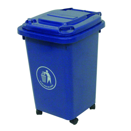 50L Wheeled Litter Bin - Blue
