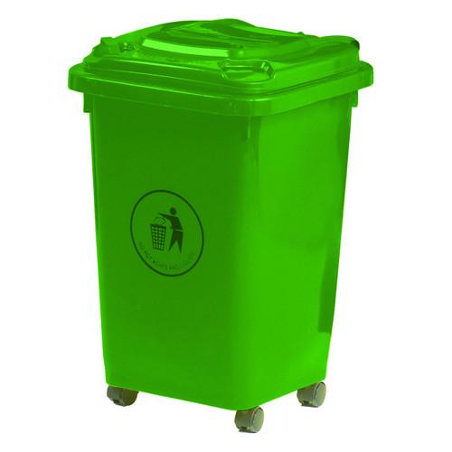 50L Wheeled Litter Bin - Green