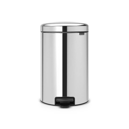 Brabantia Pedal Bin newIcon 20 litre Metal Bucket - Brilliant Steel