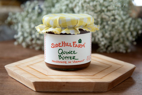 Quince Butter - A sweet accompaniment to our cheese.  Made of local fruit by Sidehill Farm of Brattleboro, Vermont. 9oz.jar