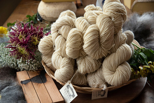 Skeins of Yarn - natural white