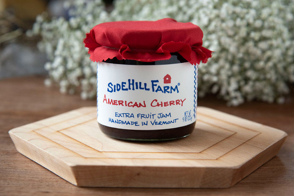 Made by Sidehill Farm in Brattleboro, Vermont; this jam balances the flavors of sweet and tart cherries, and nothing but fruit and sugar boiled down the old fashioned way!