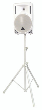 2 x White Speaker Stand and Carry Bag Kit