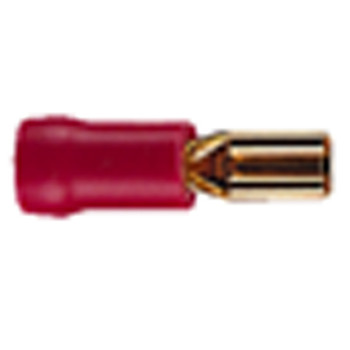 Gold Plated 3mm Receptacle Insulated Terminal For Cable Up To 1.65mm [ F473BA ]