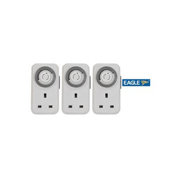 Eagle 13A Plug In Daily Mechanical Timer 3 pack