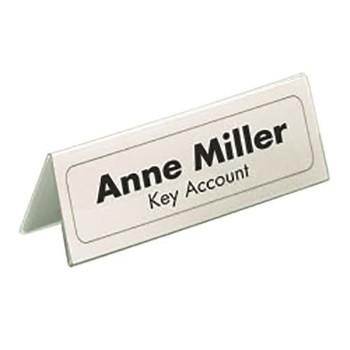 Durable Table Name Holder 61x150mm Pk 25 8050