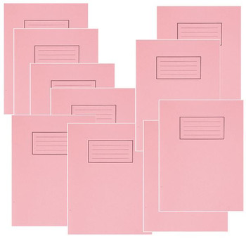 Silvine Exercise Book 80 Plain Pages Pink 229x178mm EX112