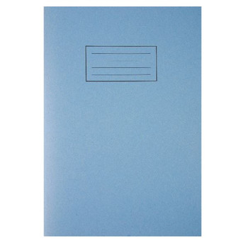 Silvine A4 Exercise Book 80 Pages Ruled Feint with Margin Blue EX108