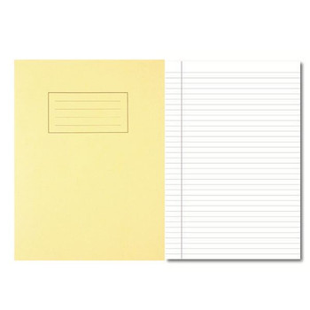 Silvine Exercise Book 80 Pages Feint Ruled with Margin Yellow 229x178mm EX103