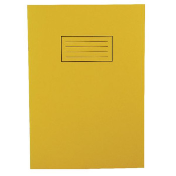 Silvine A4 Exercise Book 80 Pages Ruled Feint with Margin Yellow EX109