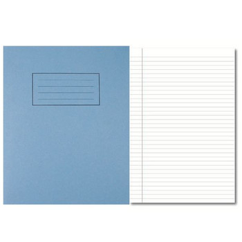 Silvine Exercise Book 80 Pages Feint Ruled with Margin Blue 229x178mm EX104