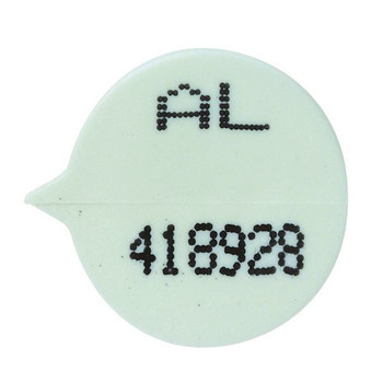 GoSecure Security Seal Numbered White Pk 500 WSEALNO