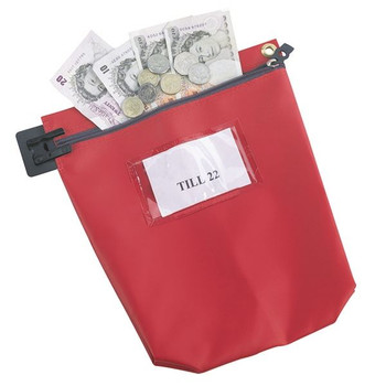 Go Secure Cash Bag with Window Red CB1R