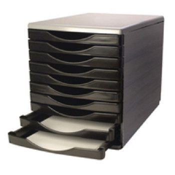 Q-Connect 10 Drawer Tower Black/Grey KF02254