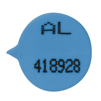 Go Secure Numbered Round Seal Blue Pk 500 S3B