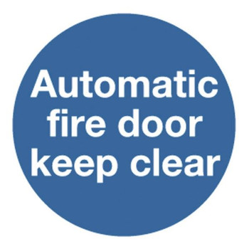 Safety Sign Automatic Fire Door 100x100mm Self-Adhesive KM73AS