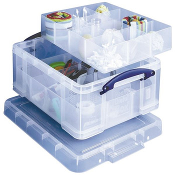 Really Useful 21L Box 6Part/12Part Dividers Clear