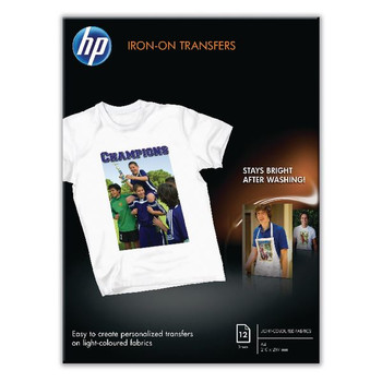 HP Iron-On Transfer A4 Pk 12 170gsm C6050A