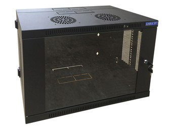 Eagle Wall Mounting Rack Cabinet With Hinged Back and Glass Locking Door [P729E]