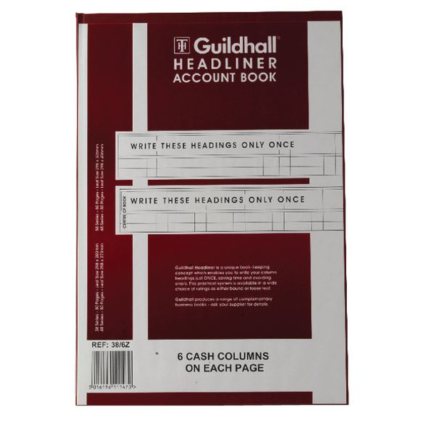 Guildhall Headliner Book 80 Pages 298x203mm 38/6 1147