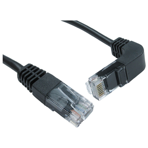 Straight RJ45 cable to Right Angled Downwards facing RJ45 cable P281HD