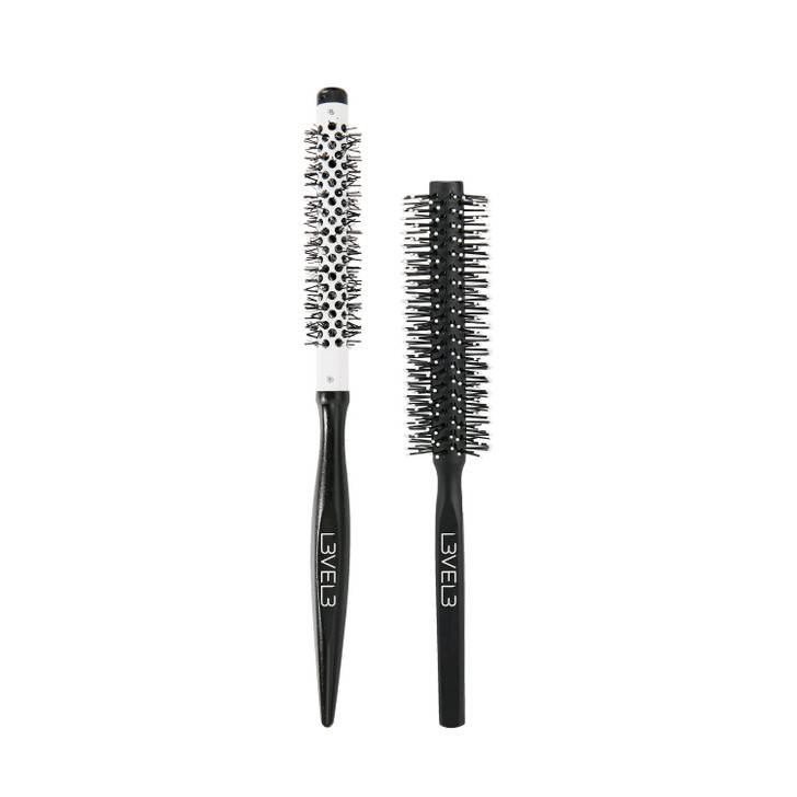 L3vel3 hair round brush set for barbers and hairstylist.