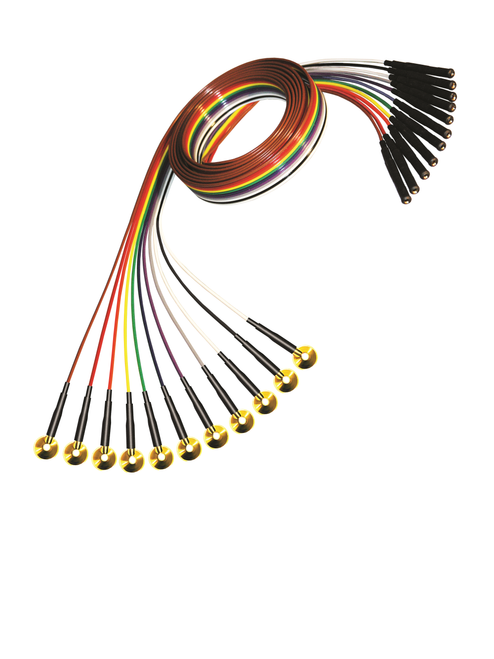 Gold Cup Electrode - Ribbon Wire