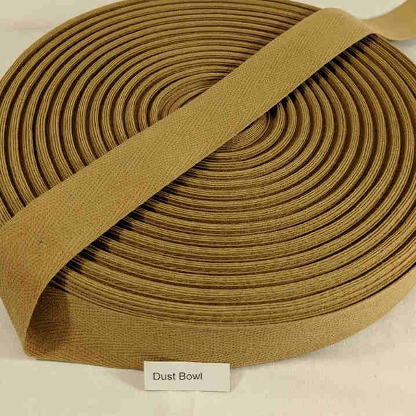 "Cotton Twill Tape 1.25"" Dust Bowl, 72 yard roll"