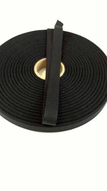 """Lightweight 5/8"""" black twill tape, 72 yard roll"""