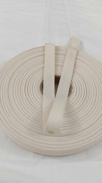 "Lightweight 5/8"" natural twill tape, 72 yard roll"