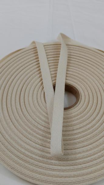 """Heavyweight 1/2"""" natural twill tape, 72 yard roll"""