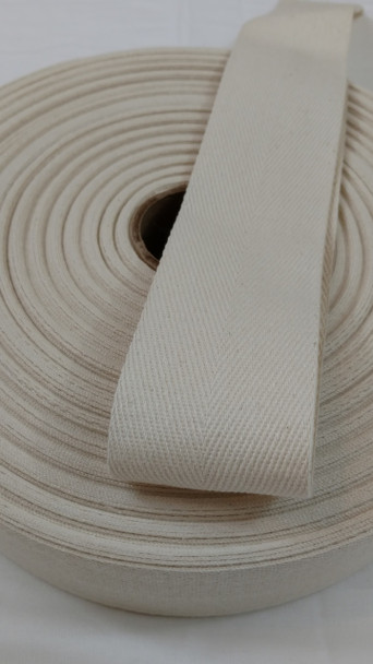 "Heavyweight 2"" natural twill tape, 72 yard roll"