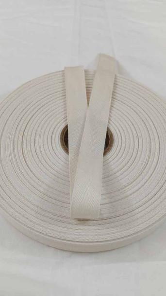"Lightweight 3/4"" natural twill tape, 72 yard roll"