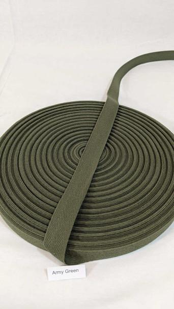 "Cotton Twill Tape 3/4"" Army Green, 72 yard roll"