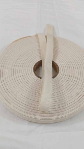 "Lightweight 1/2"" natural twill tape, 72 yard roll"
