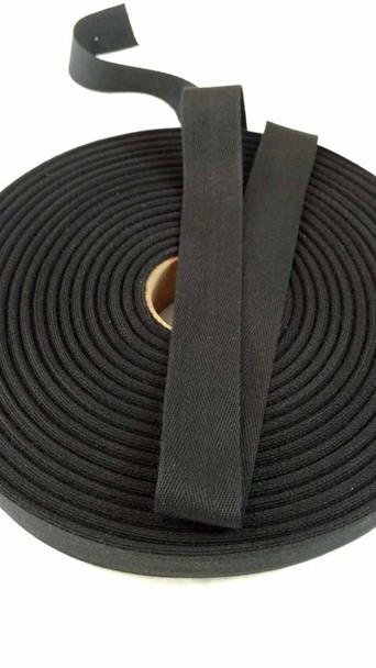 """Lightweight 1"""" black twill tape, 72 yard roll"""