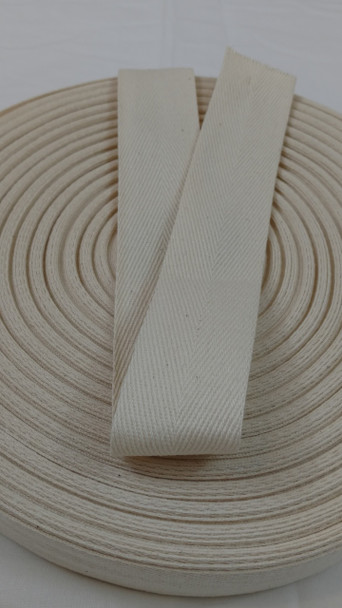 "Heavyweight 1.5"" natural twill tape, 72 yard roll"