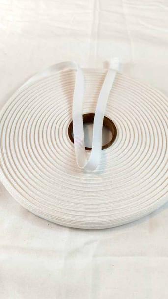 "Lightweight 3/8"" white twill tape, 72 yard roll"