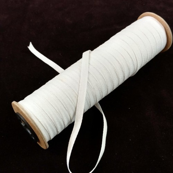 """Polyester Twill Tape 1/4"""", 72 yard roll"""