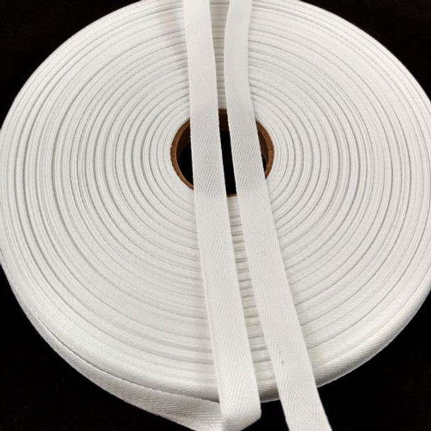 """Polyester Twill Tape 1/2"""", 72 yard roll"""