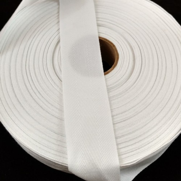 """Polyester Twill Tape 1 1/4"""", 72 yard roll"""