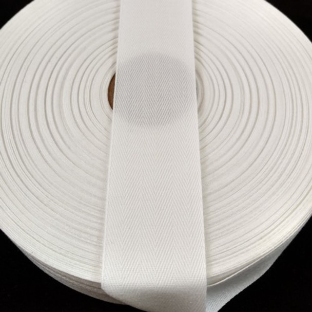 """Polyester Twill Tape 1 1/2"""", 72 yard roll"""