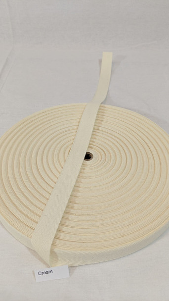 "Cotton Twill Tape 3/4"" Cream, 72 yard roll"