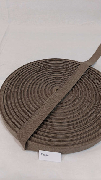 """Cotton Twill Tape 3/4"""" Taupe, 72 yard roll"""