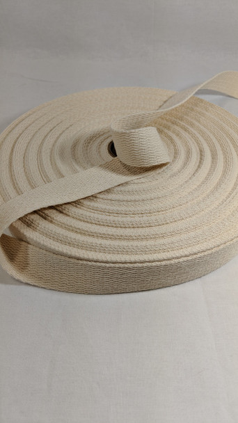 "Webbing 1.25"", 50 yard roll, natural"