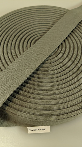 "Cotton Twill Tape 1.25"" Cadet Gray, 72 yard roll"