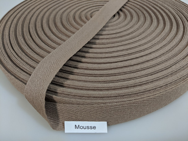 """Cotton Twill Tape 3/4"""" Mousse, 72 yard roll"""